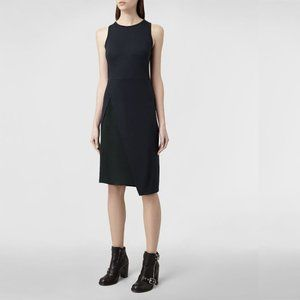 ALLSAINTS Carine Sheath Dress Black/Indigo